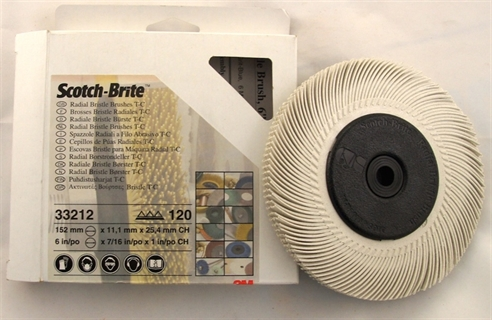 Picture of 3M Radial Bristle Brushes 120 Grit size