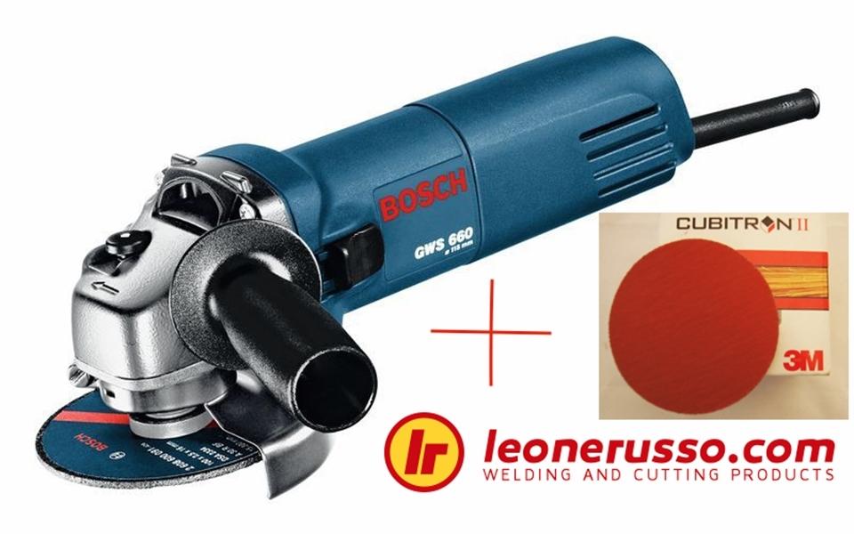 Kit: Bosch GWS 750 + 50 Pcs 3M 982 Gr. 40