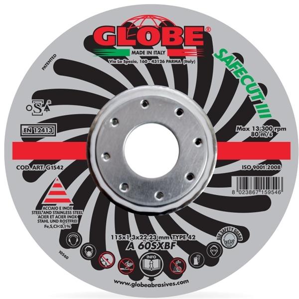 Globe 115 x 1,3 Inox Safecut III