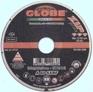 Picture of Globe Cut Disc 125 x 1,3 Inox