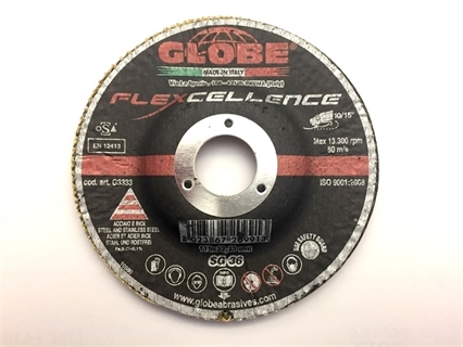 Picture of Globe disco fibrato con supporto fisso 125 gr 36