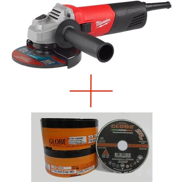 Kit Smerigliatrice AG 800 - 115 E + 50 Pz Globe 115 x 1,0